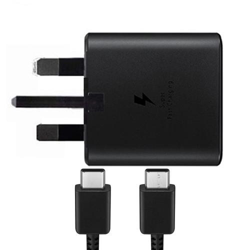 Samsung Galaxy 25W 3A USB-C Fast Charging Adaptor + USB-C Cable - Black FFP