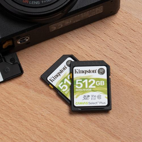 Kingston 128GB Canvas Select Plus V30 SD Card (SDXC) UHS-I U3 - 100MB/s