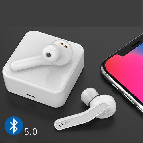 oneo TWS Bluetooth v5.0 Wireless Earphones with Charging Case - White