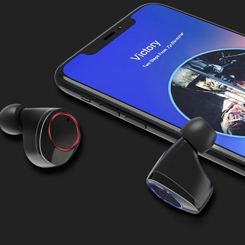 X11 TWS Wireless Earphones Bt 5.0 Touch Control IPX7 + Ladecase - Jet Black