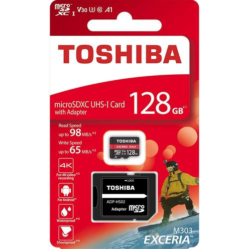 Toshiba 128GB M303 Micro SD Card (SDXC) U3 A1 V30 - 98MB/s