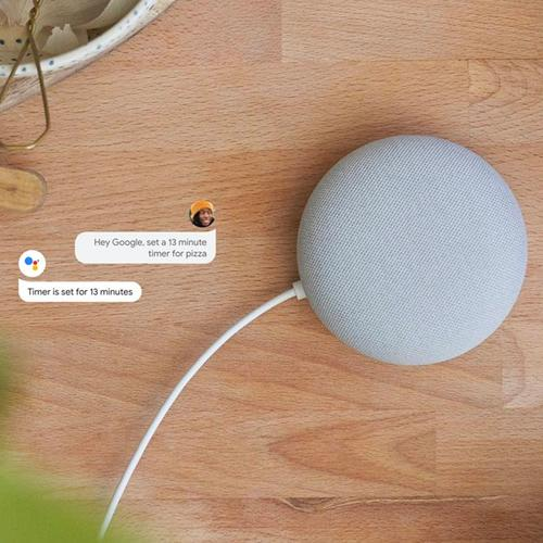 Google Nest Mini 2nd Generation - Chalk (Official UK Version)