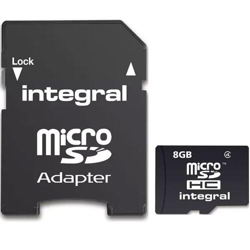 Integral 8GB Micro SD (SDHC) Card + Adapter