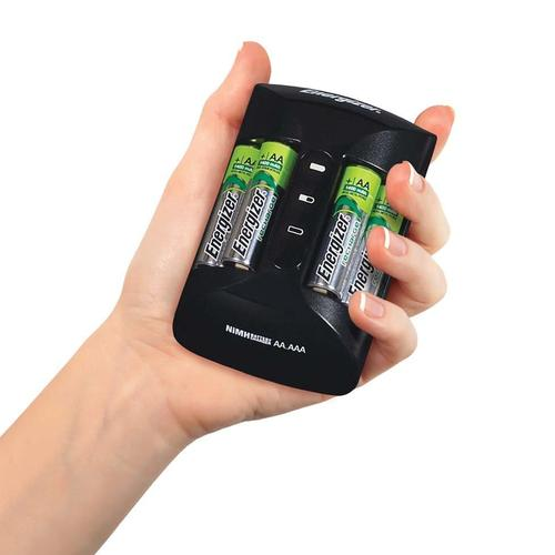 Energizer Accu Recharge PRO Battery Charger + 4 x AA 2000mAh, 4 x AAA 800mAh Rechargeable Batteries