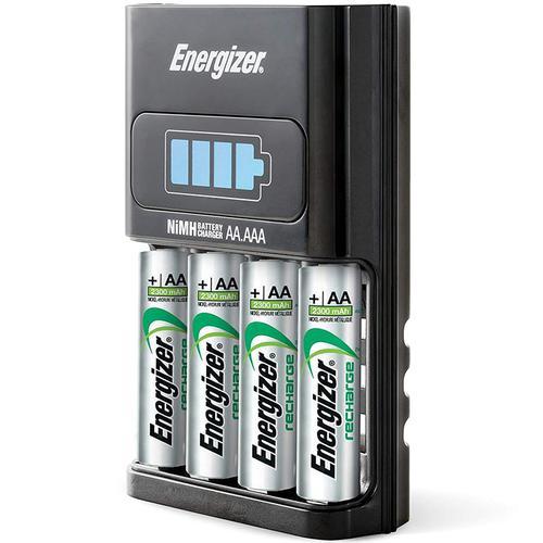 Energizer 1 Stunden Ladegerät mit 4 AA 2300 mAh Wiederaufladbaren Batterien