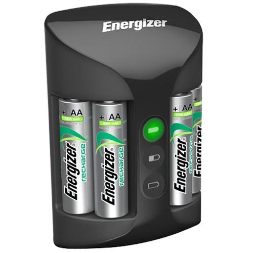 Energizer Accu Recharge PRO Battery Charger + 4 x 2000mAh AA Rechargeable Batteries