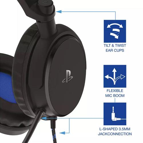 4Gamers PRO4-50s Stereo Xbox One, PC, PS4 Gaming Headset - Black