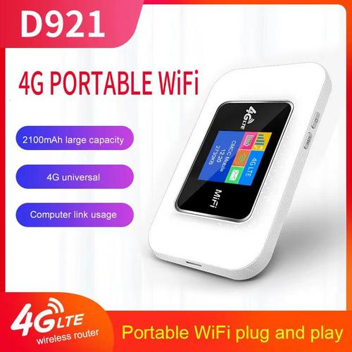 4G Unlocked Mobile WiFi Router - 150 Mbps - White