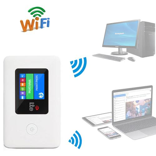 4G Mobile WiFi Router Unlocked Hotspot Modem 100 Mbps USB - White