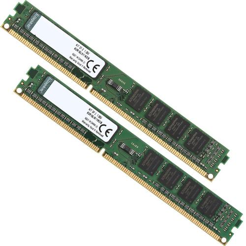 Kingston ValueRAM 8GB (2x4GB) 1600MHz DDR3 Non-ECC 240-Pin CL11 DIMM PC Memory Module