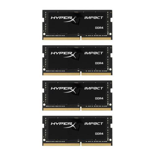 HyperX IMPACT 32GB (4x8GB) 2400MHz DDR4 Non-ECC 260-Pin CL15 SODIMM Laptop Memory Module