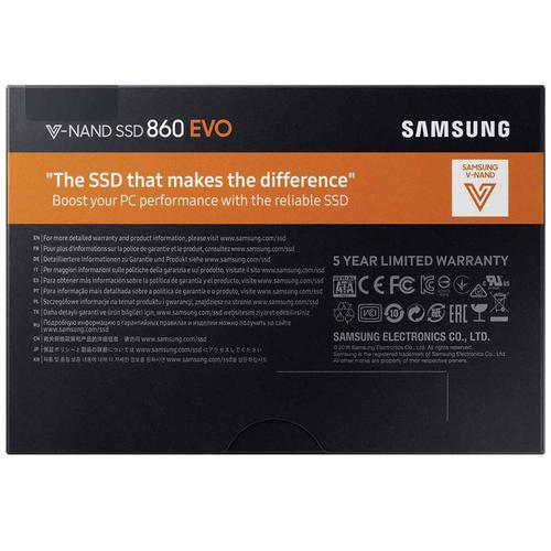 Samsung 500GB SSD 860 EVO SATA Internal SSD - 550MB/s