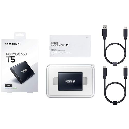 Samsung 1TB T5 USB 3.1 Gen 2 Portable Solid State Drive - Black