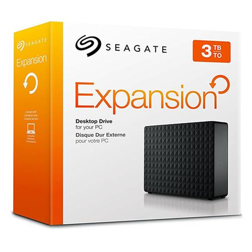 "Seagate 3TB HDD 3.5"" Portable Expansion Desktop External HDD Micro-USB 3.0"