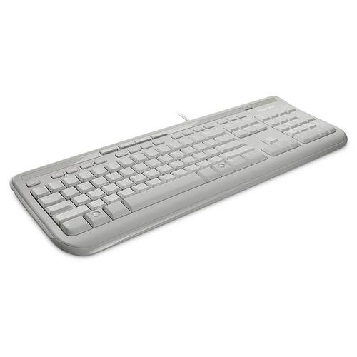 Microsoft Wired USB Spillproof Keyboard 600 White EN UK