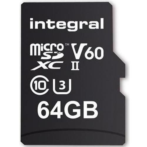 Integral 64GB UltimaPro X2 Micro SD Card SDXC UHS-II U3 V60 - 280MB/s