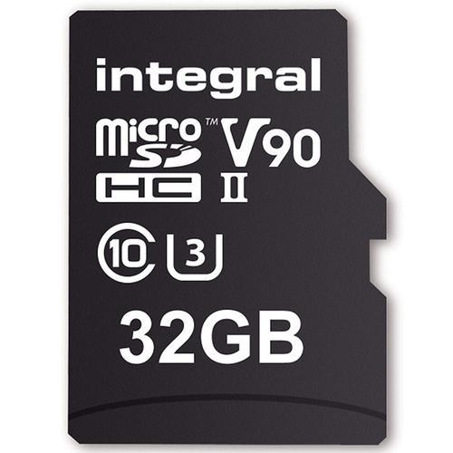 Integral 32GB UltimaPro X2 Micro SD Card SDHC UHS-II U3 V90 8K - 280MB/s