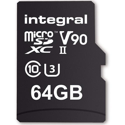 Integral 64GB UltimaPro X2 Micro SD Card SDXC UHS-II U3 V90 - 280MB/s