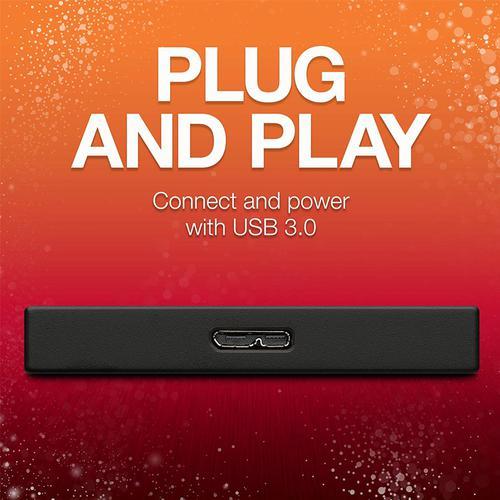 Seagate 1TB  Backup Plus Slim USB 3.0 Portable Hard Drive External (Black) - 540MB/s