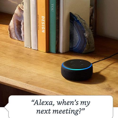 Amazon Echo Dot 3rd Gen Smart Speaker (Refurbished) - Charcoal