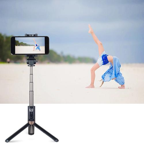 Apexel 2-in-1 Rechargeable Selfie Stick Tripod for Smartphone- Black
