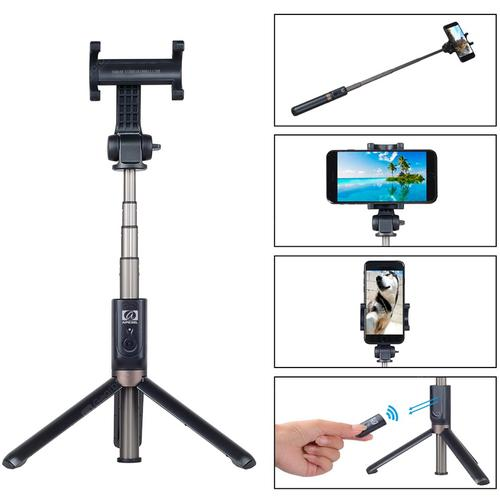 Apexel 2-in-1 Rechargeable Selfie Stick Tripod for Smartphone	- Black