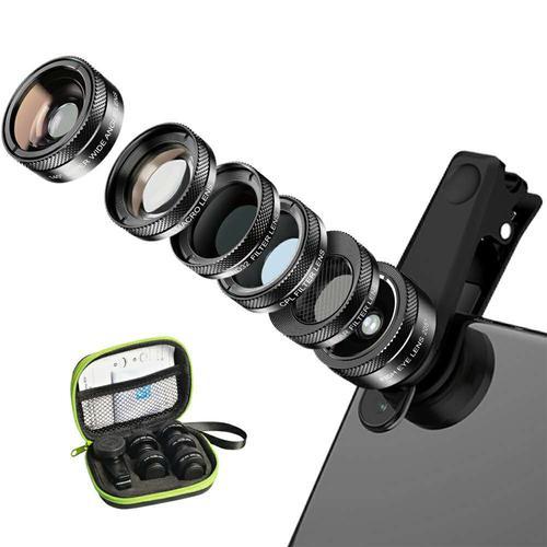 Apexel 6-in-1 Smartphone Filters & Lens Kit