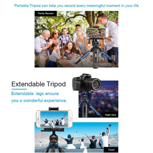 Apexel Extendable Tripod for Smartphone and DSLR Cameras
