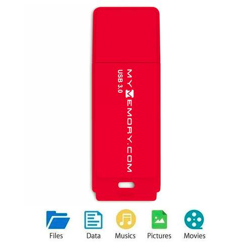MyMemory 64GB USB 3.0 Flash Drive - 80MB/s - Red