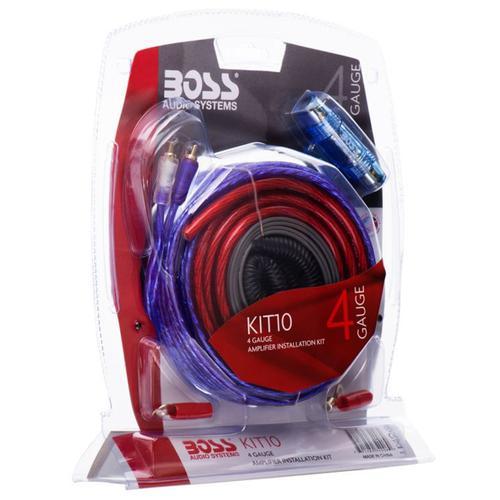 BOSS Audio KIT-10 4 Gauge Amplifier Installation Wiring Kit