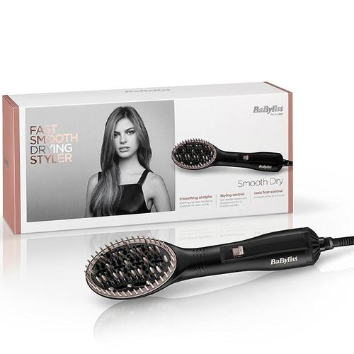 BaByliss 2772U Smooth Dry Hot Air Styler 600W - Black