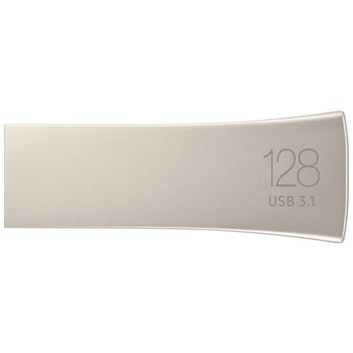 Samsung 128GB Bar Plus USB 3.1 Flash Drive 300Mb/s - Champagne Silver