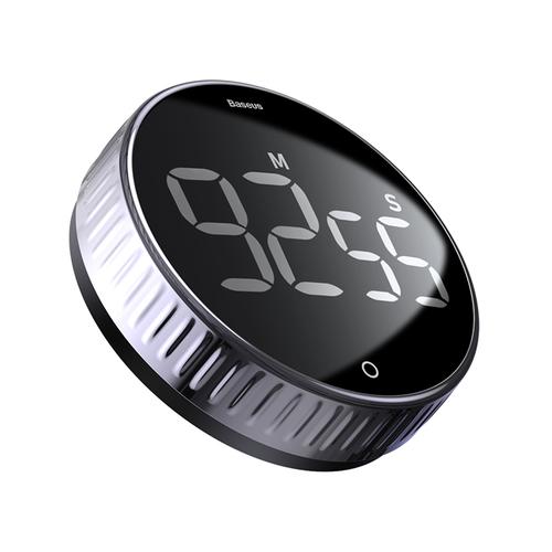 Baseus Heyo Magnetic Rotation Digital Timer - Black