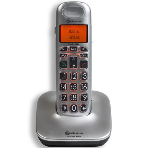 Amplicomms BigTel 1200 Big Button Cordless Amplified Telephone