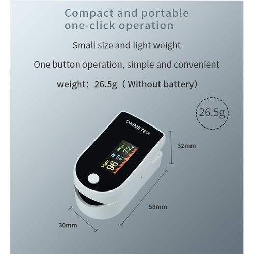 Bluetooth Finger Clip Pulse Oximeter & Blood Oxygen Saturation Meter - White
