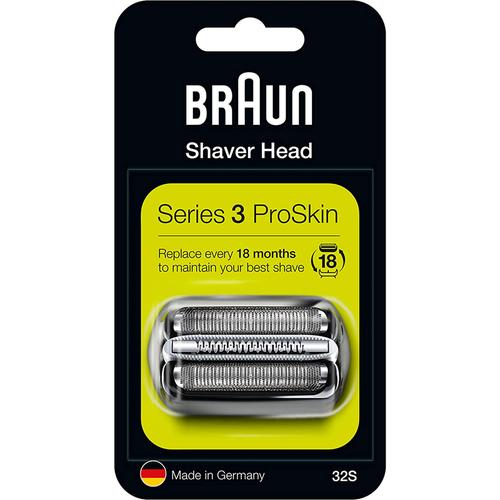Braun 32S Series 3 Replacement Cassette Foil and Cutter Pack - Silver