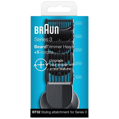 Braun Series 3 Shave and Style Trimmer Head + 5 Comb Set