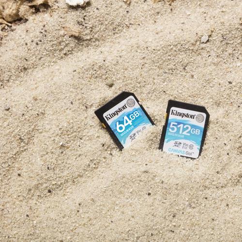 Kingston 512GB Canvas Go SD Karte (SDXC) U3 V30 - 90MB/s