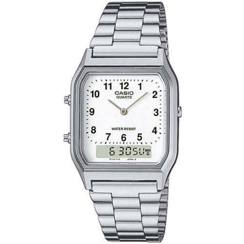 Casio Mens Classic Combi Watch with Numeric Digits - Silver