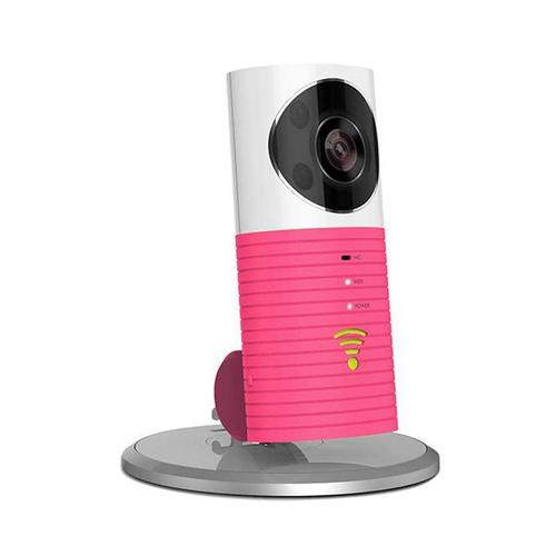 Clever Dog Wireless Smart WiFi Home Security Camera 720p 90° Angle - Pink