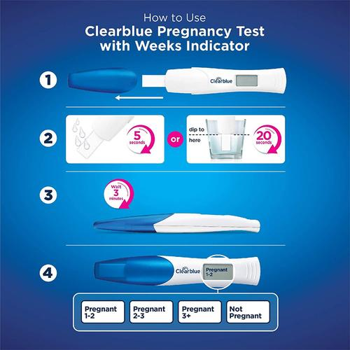 Clearblue Digital Pregnancy Test with Weeks Indicator - 2 Test Kit