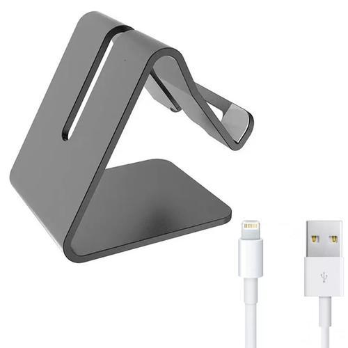 Desktop Mobile Phone Stand/Holder with Apple Lightning USB Cable 1M - FFP