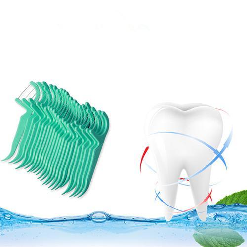 Dr Emma 90 Piece Professional Inter-Dental Flossers - Mint - 3 Pack