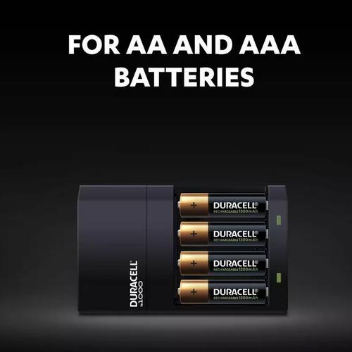 Duracell 4 Hour AA and AAA Battery Charger with 2 xAA & 2xAAA Batteries