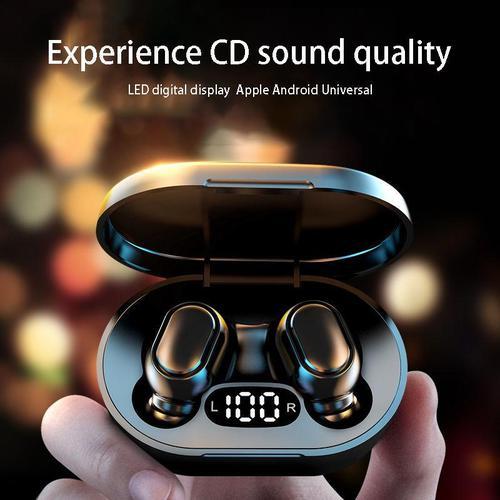 E7S TWS Wireless Earphones Bluetooth 5.0 EDR + Charging Case - Coral