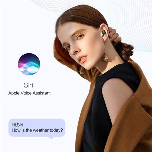 E7S TWS Wireless Earphones Bluetooth 5.0 EDR + Charging Case - Dark Black