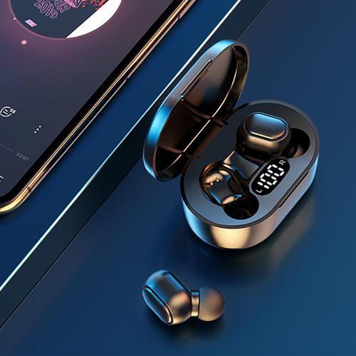 E7S TWS Drahtlose Ohrhörer BT 5.0 EDR + Ladeetui - Blue Sky