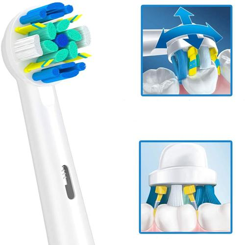 EB25-P Floss Action Replacement Toothbrush Heads - 4x 4 Pack