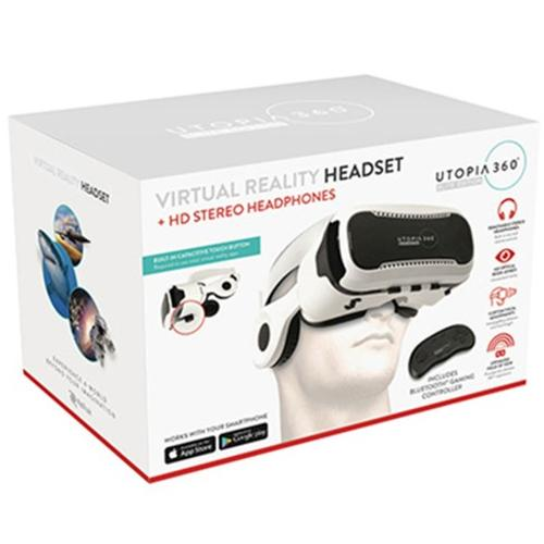 Utopia 360 Elite Edition Virtual Reality Headset with Headphones