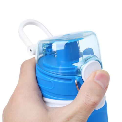 MyFriday Foldable Silicone Travel Water Bottle BPA Free 750ml - Blue